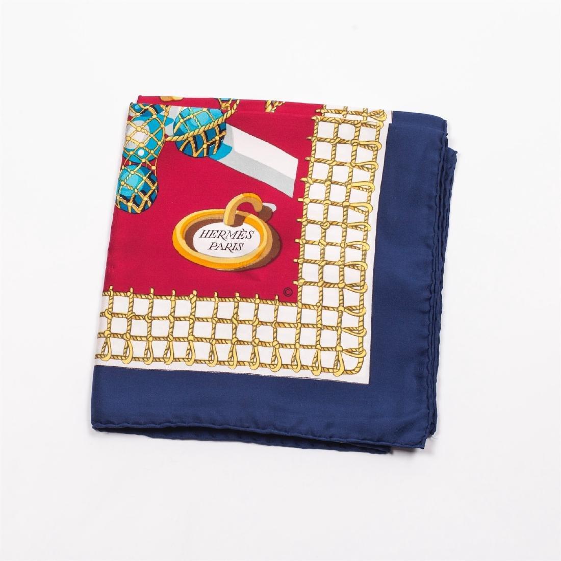 """Hermès """"Les raisins de la mer"""" silk scarf. 1967 - 2"""