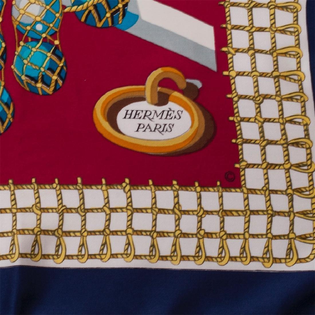 """Hermès """"Les raisins de la mer"""" silk scarf. 1967 - 3"""