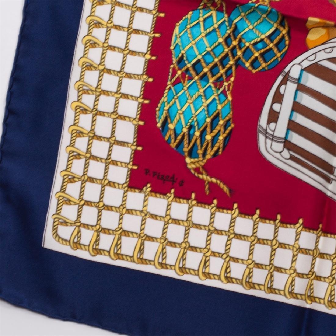 """Hermès """"Les raisins de la mer"""" silk scarf. 1967 - 4"""