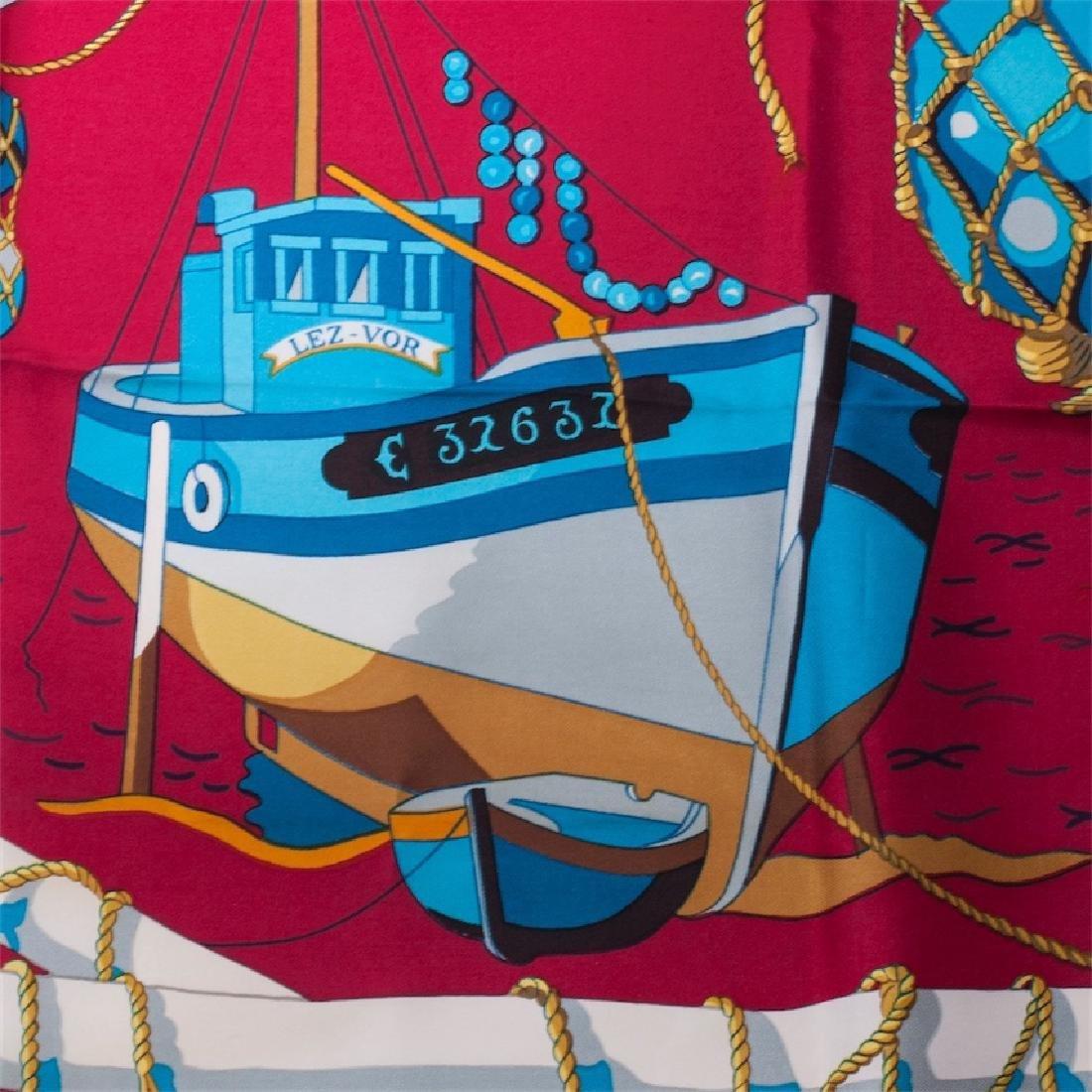 """Hermès """"Les raisins de la mer"""" silk scarf. 1967 - 5"""