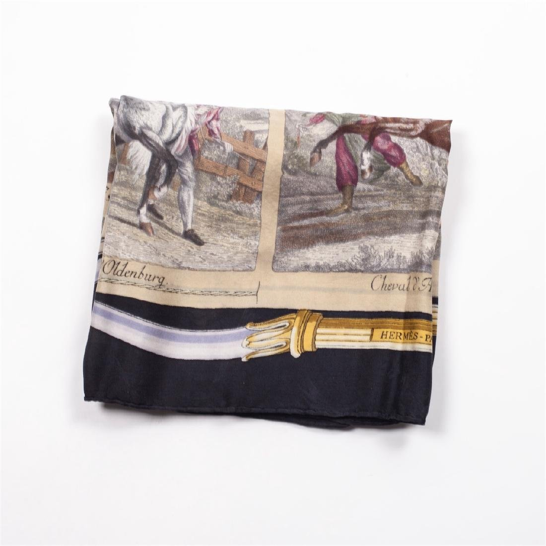 """Exceptional and rare Hermes """"Chevaux du Monde"""" silk - 2"""