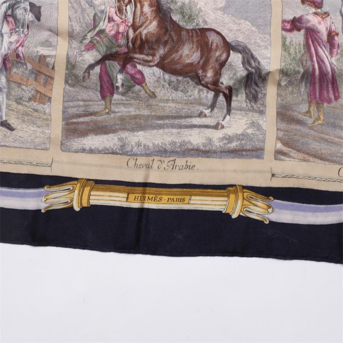 "Exceptional and rare Hermes ""Chevaux du Monde"" silk - 3"