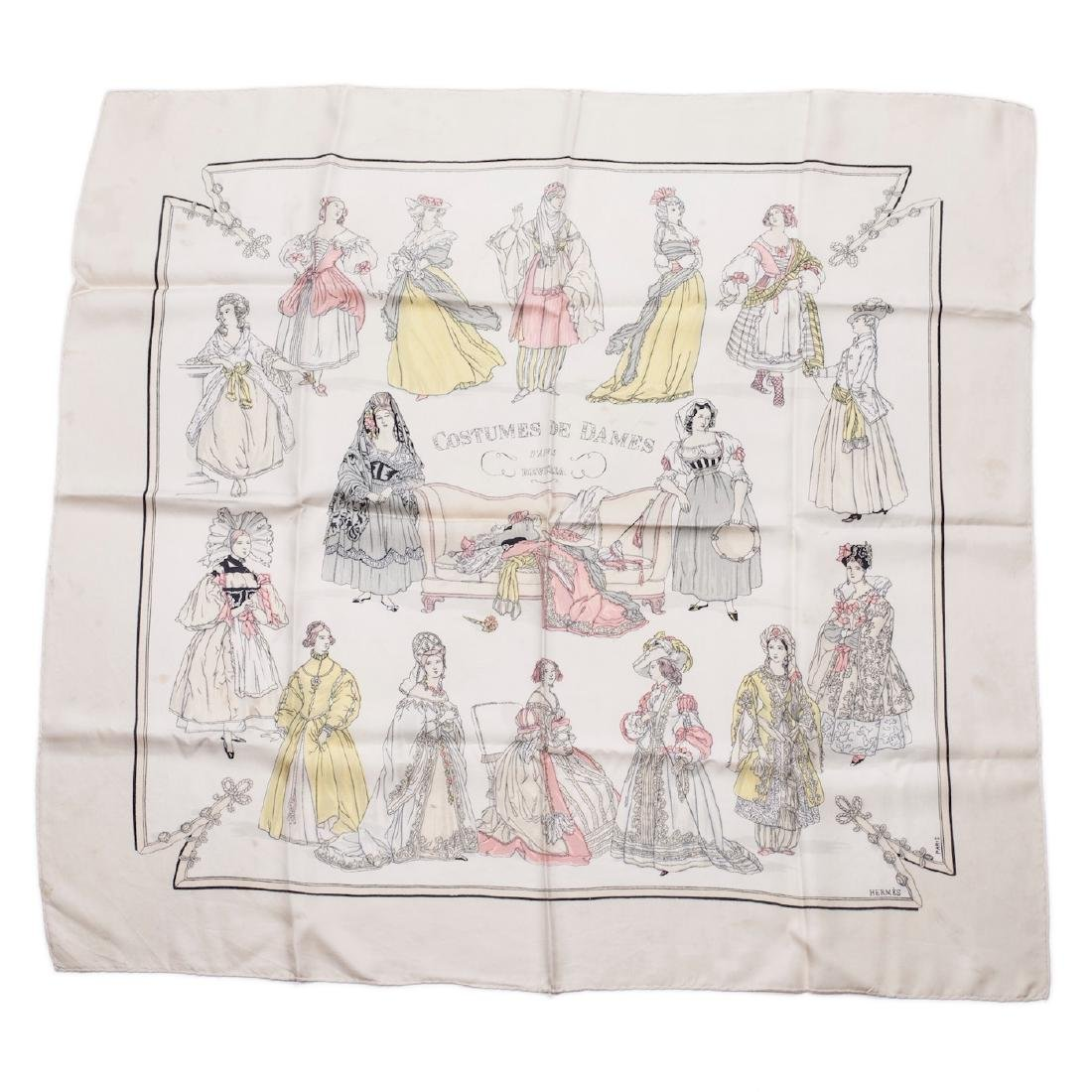 "Highly collectable Hermes ""Costumed de dames"" silk"