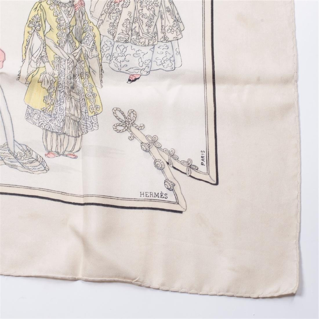 "Highly collectable Hermes ""Costumed de dames"" silk - 3"
