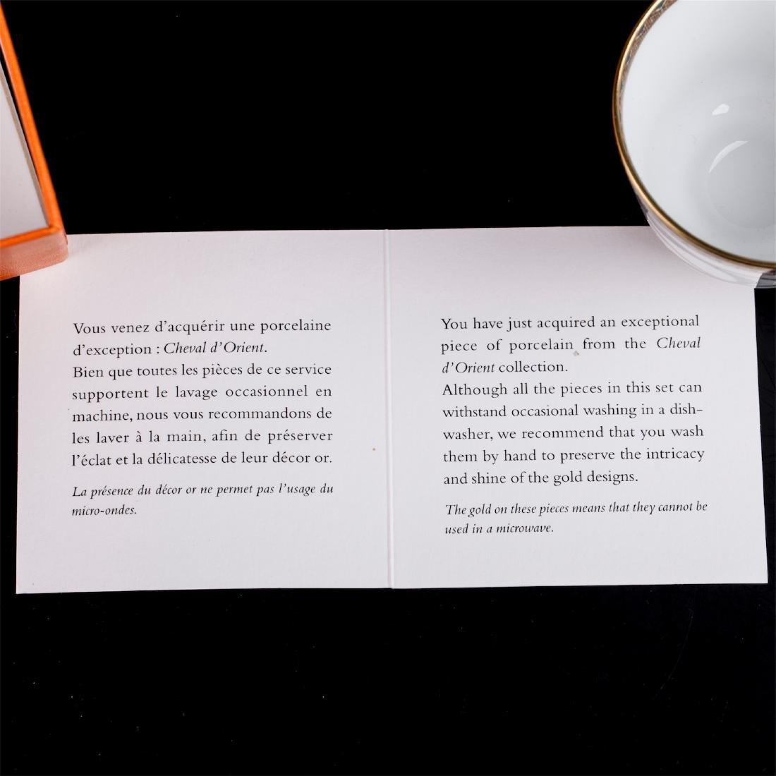 """Hermès """"Cheval d'Orient"""" porcelain tete-a-tete coffee - 2"""