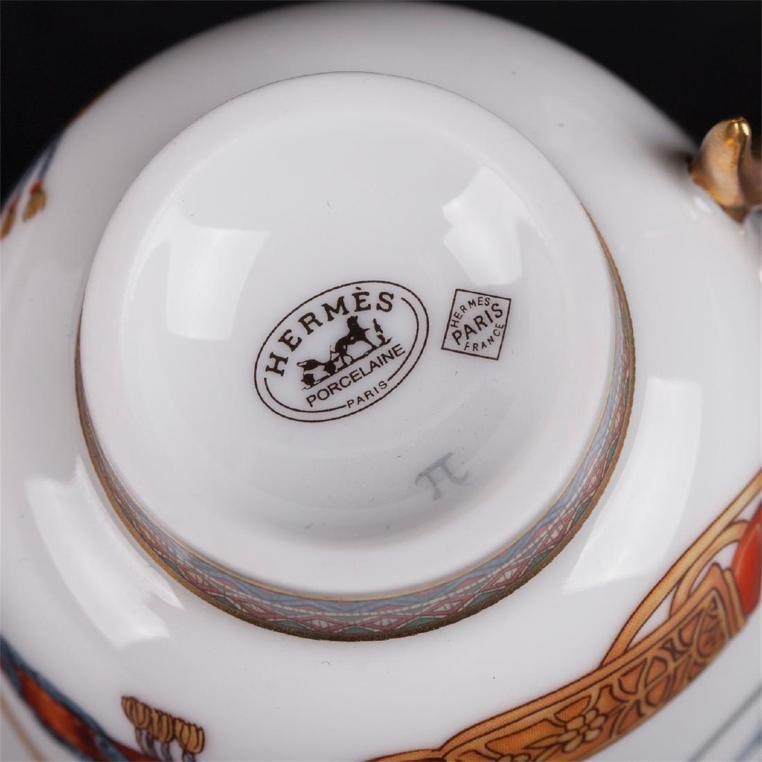 """Hermès """"Cheval d'Orient"""" porcelain tete-a-tete coffee - 4"""