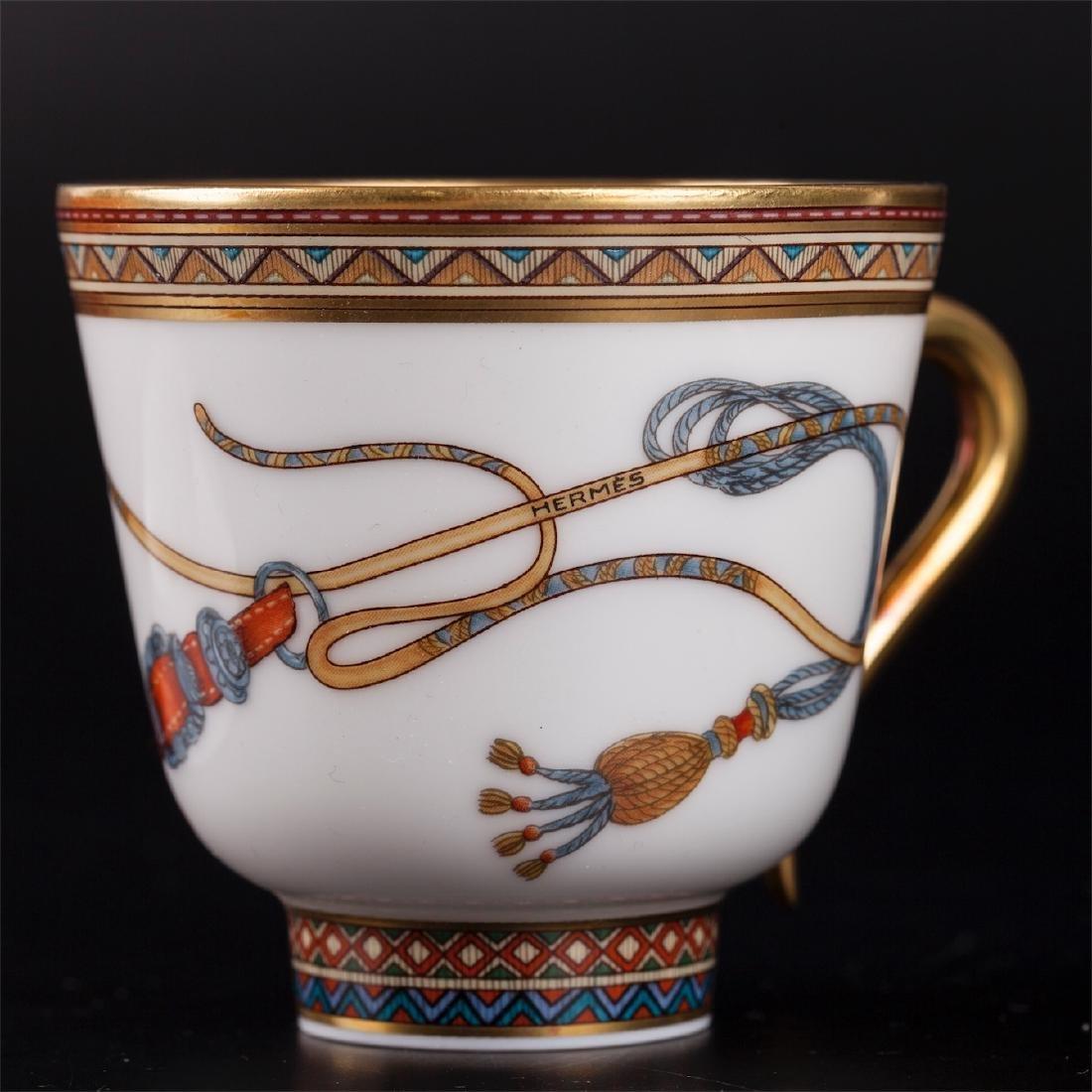 """Hermès """"Cheval d'Orient"""" porcelain tete-a-tete coffee - 5"""