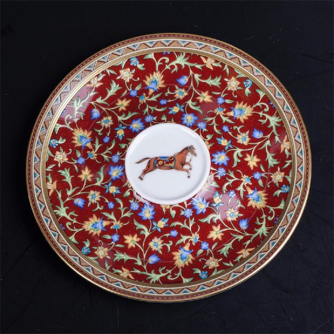 """Hermès """"Cheval d'Orient"""" porcelain tete-a-tete coffee - 6"""