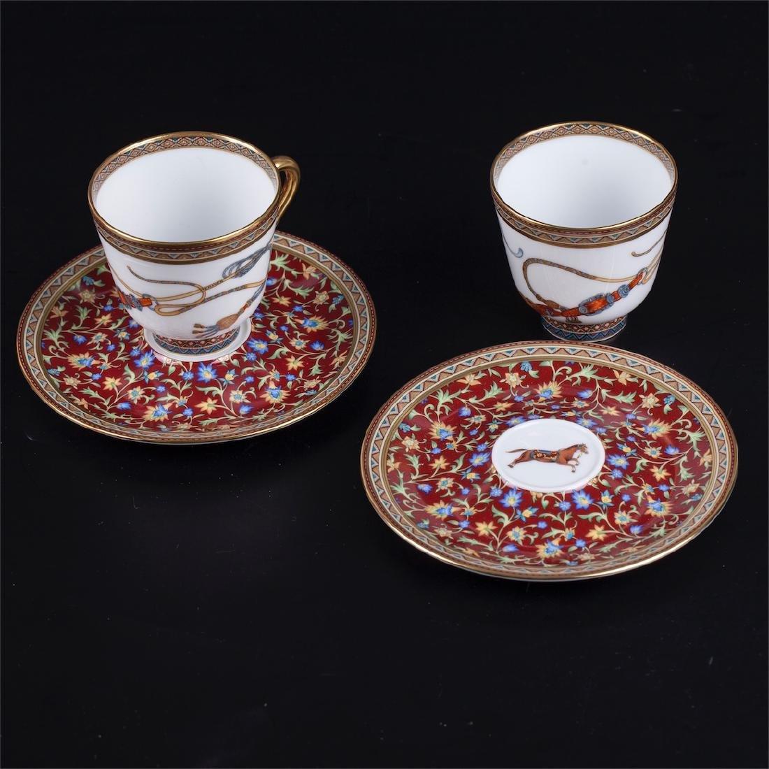 """Hermès """"Cheval d'Orient"""" porcelain tete-a-tete coffee - 7"""