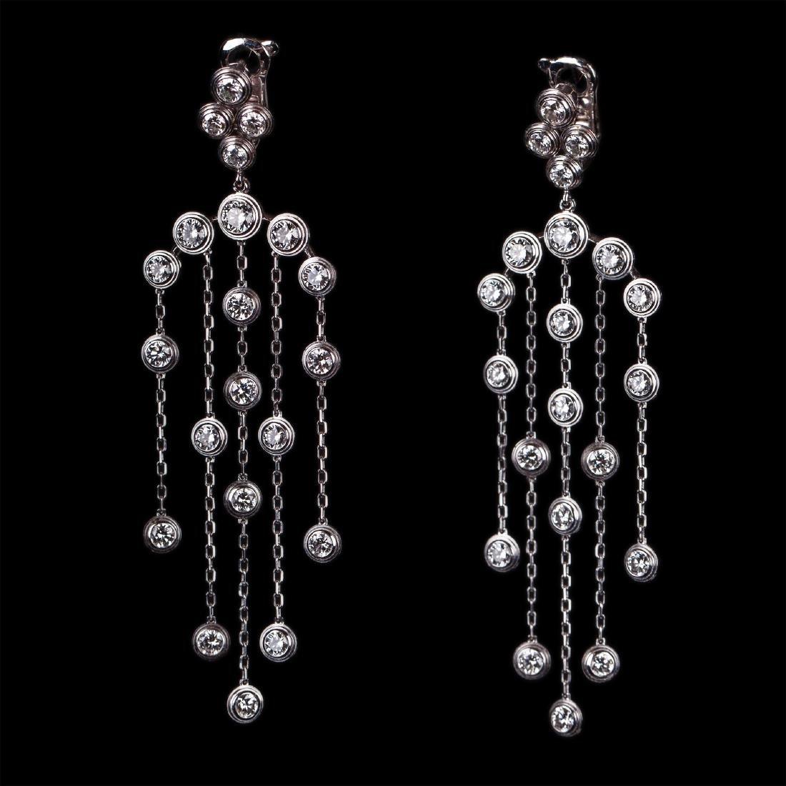 """Cartier 18K Diamond Earrings """"Diamants Legers De"""