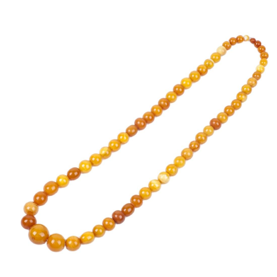 Antique Baltic amber necklace