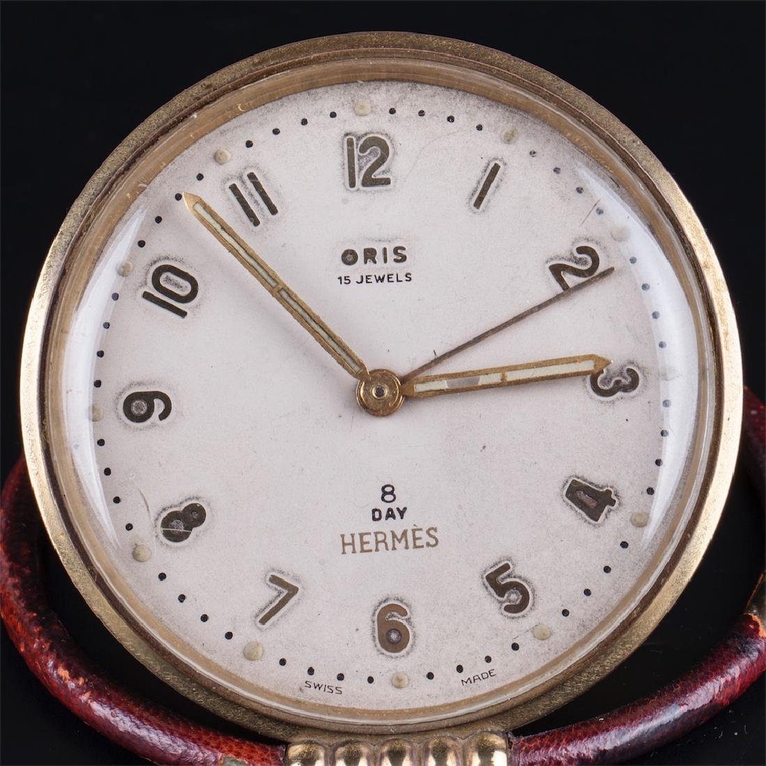 Vintage Hermes desk clock with alarm - 2