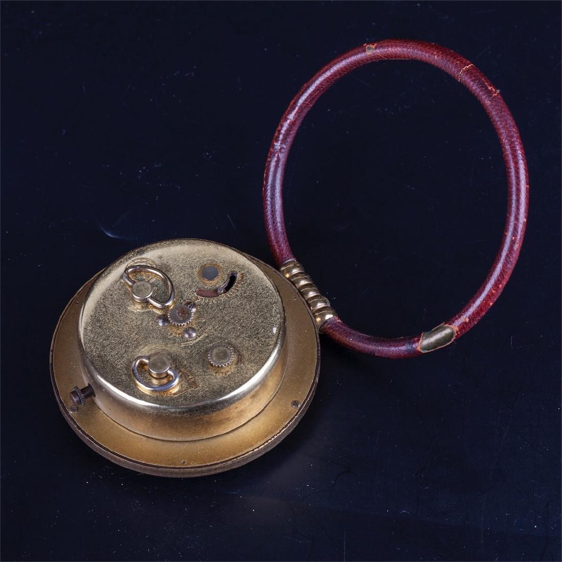 Vintage Hermes desk clock with alarm - 3
