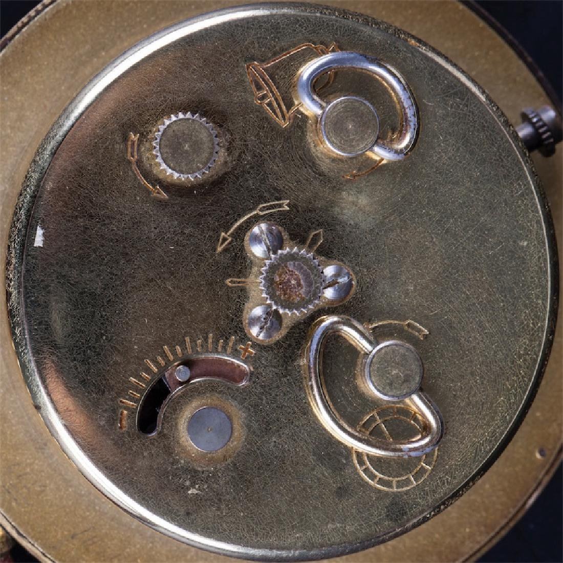Vintage Hermes desk clock with alarm - 4