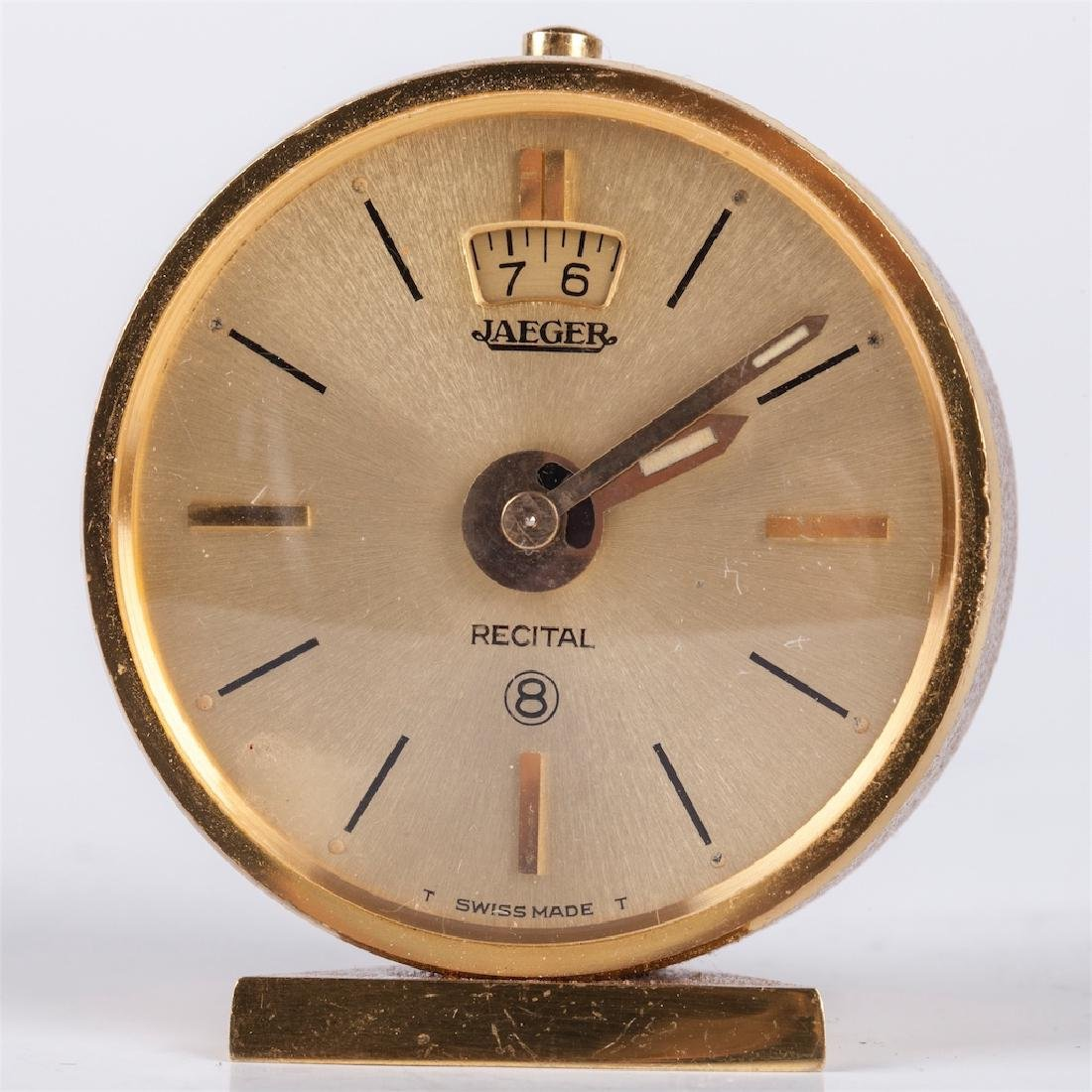 "Travel mechanical clock with alarm ""Jaeger Le Coultre"" - 4"