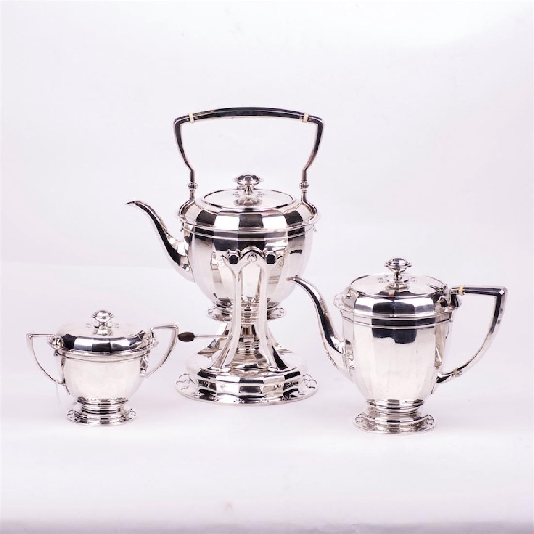 Tiffany & Co silver tea set of 3 pieces
