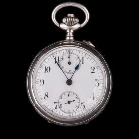 Open face silver pocket watch