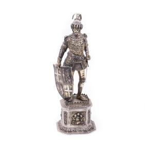 Antique sterling silver knight figure. Sterling silver