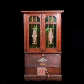 Antique German cabinet gramophone