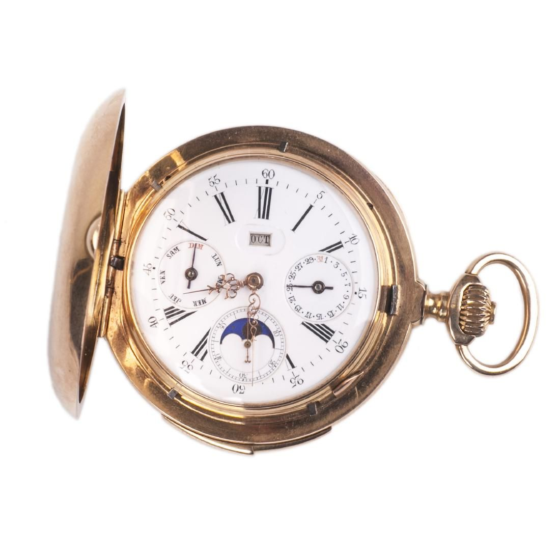 """Gold """"Le Coultre†minute repeater with calendar"""