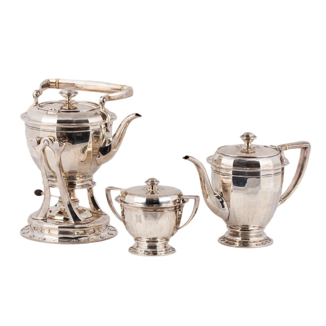 Tiffany & Co silver tea set of 3 pieces