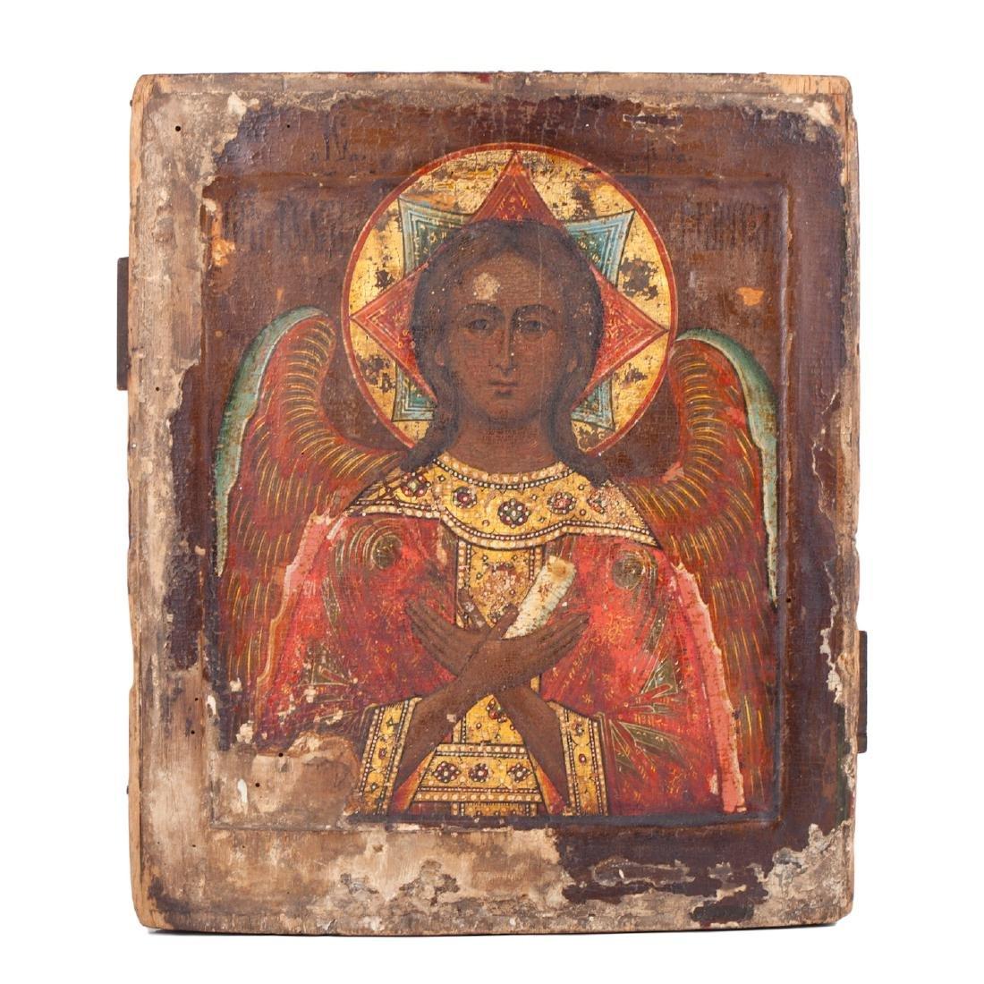 "Russian icon of Guardian Angel ""Good silence"""