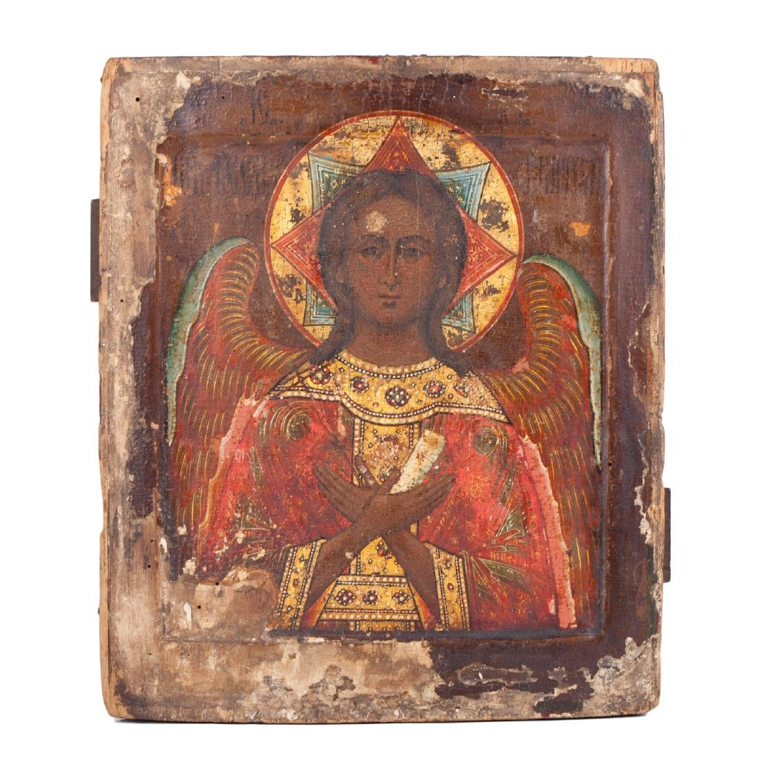 "Russian icon of Guardian Angel ""Good silence"""