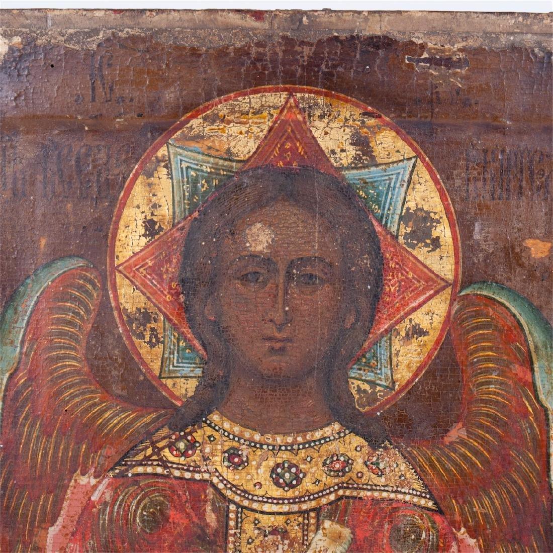 "Russian icon of Guardian Angel ""Good silence"" - 2"