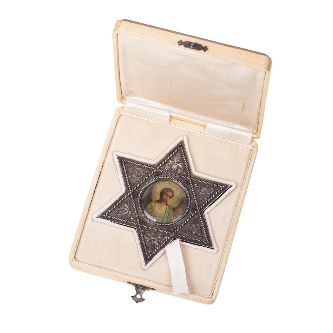 Rare icon of Guardian Angel, Faberge