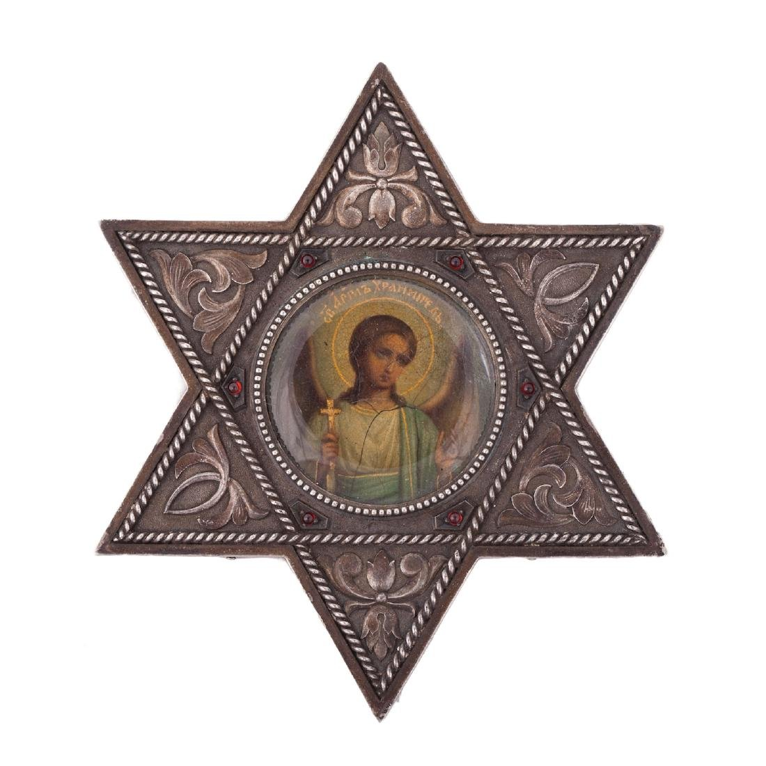 Rare icon of Guardian Angel, Faberge - 2