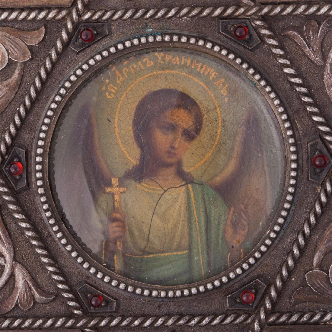 Rare icon of Guardian Angel, Faberge - 5