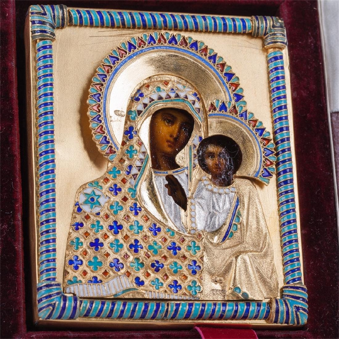 Rare Russian icon of Mother of God Assumption - 2