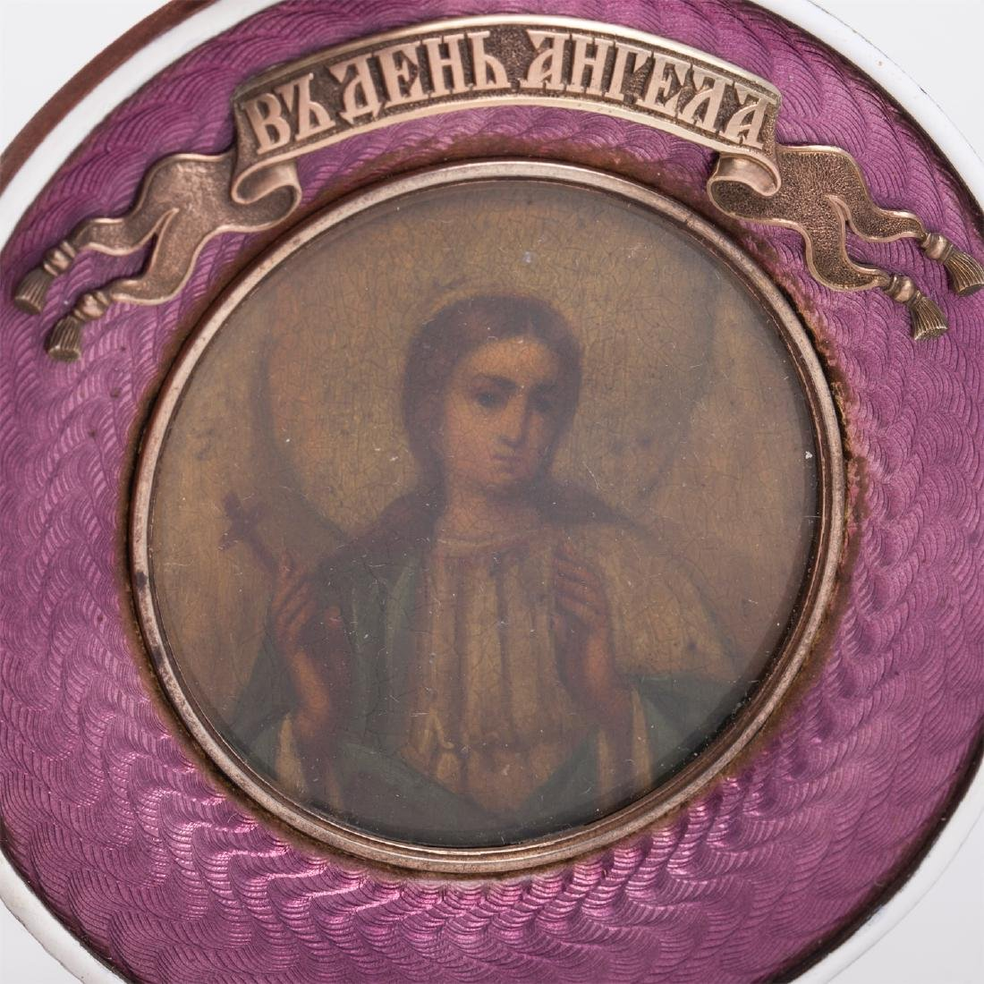 Rare Russian icon of Guardian Angel - 4