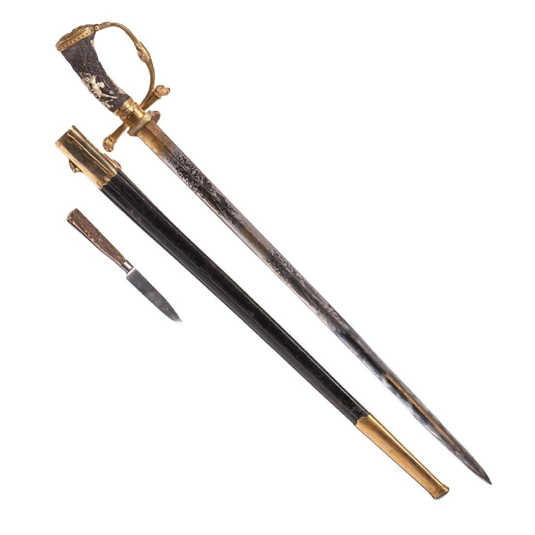 Hunting dagger with Grand Duke of Baden monogram - 2