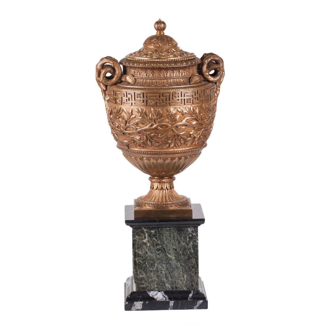 Impressive Italian bronze vase by B. Bochetti