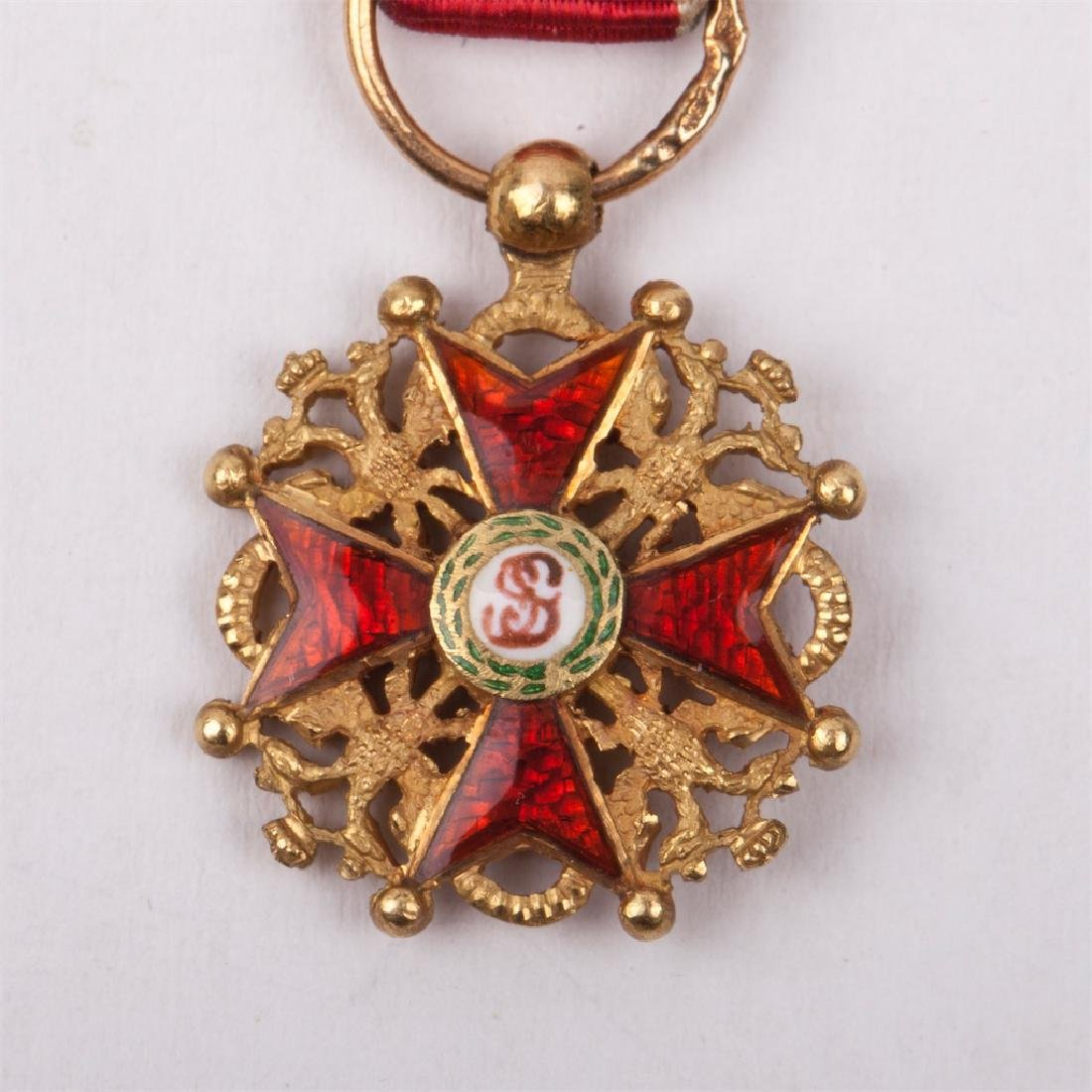 Miniature Imperial Order of St Stanislaus - 2