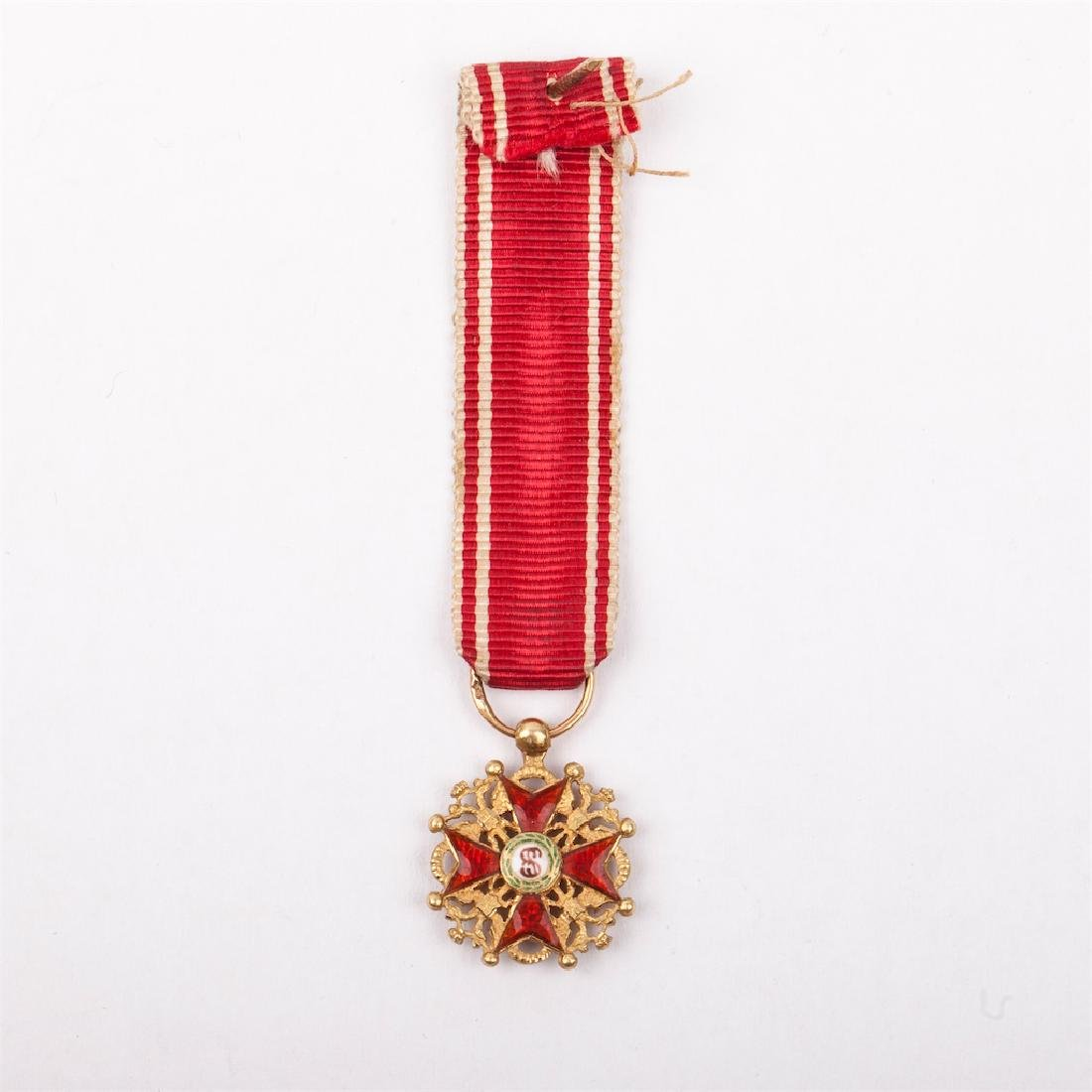 Miniature Imperial Order of St Stanislaus - 3