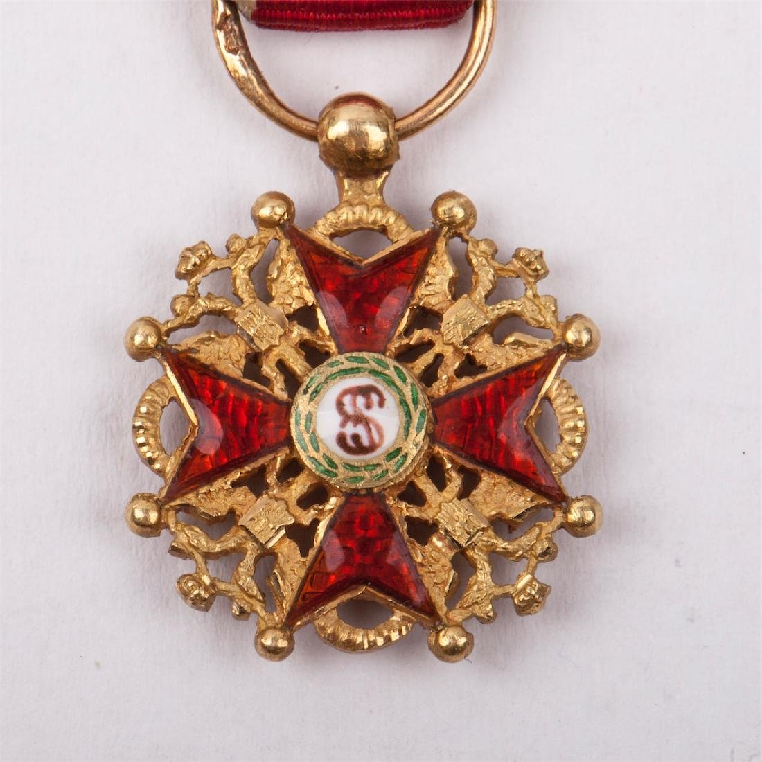 Miniature Imperial Order of St Stanislaus - 4