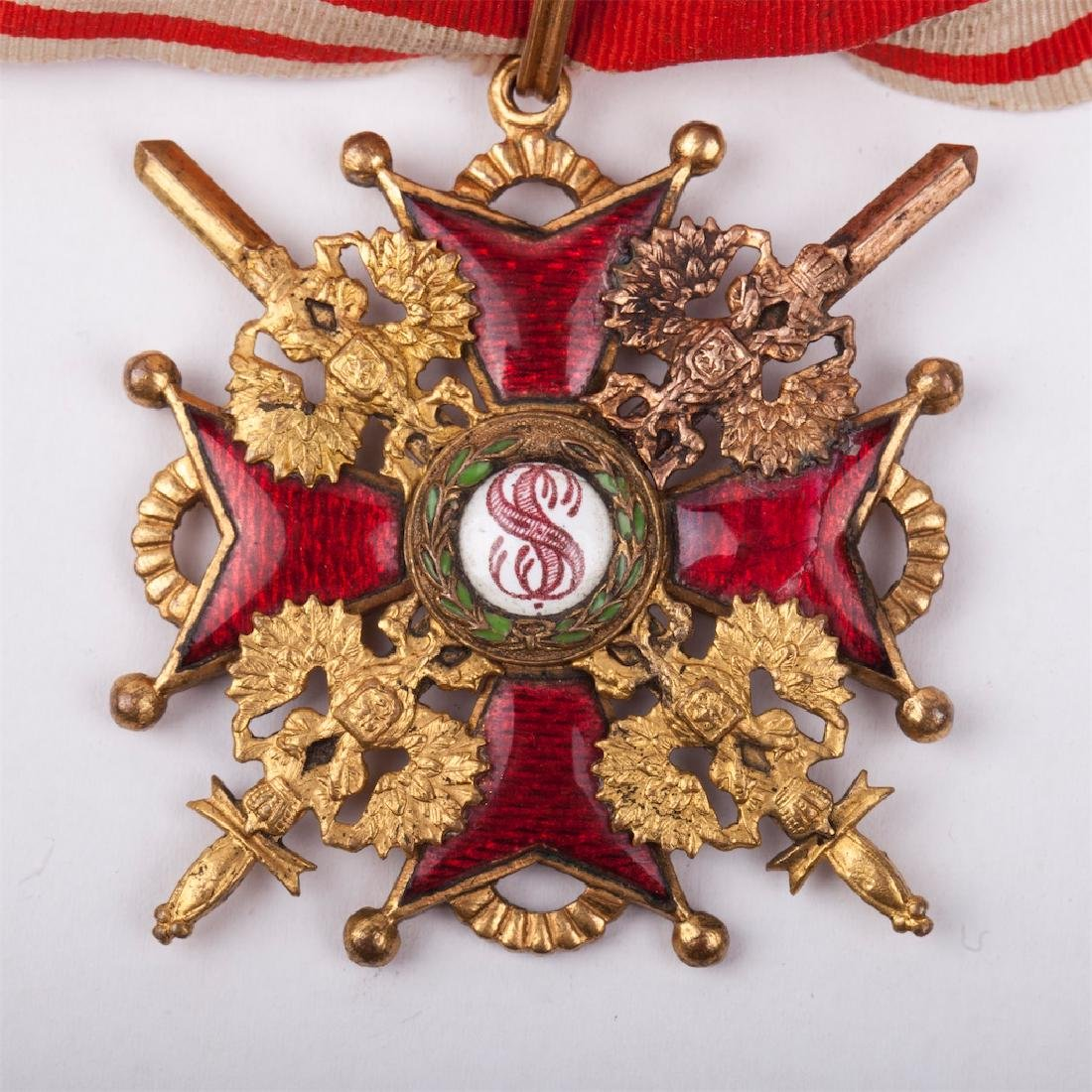 Order of Saint Stanislaus II class with swords - 4