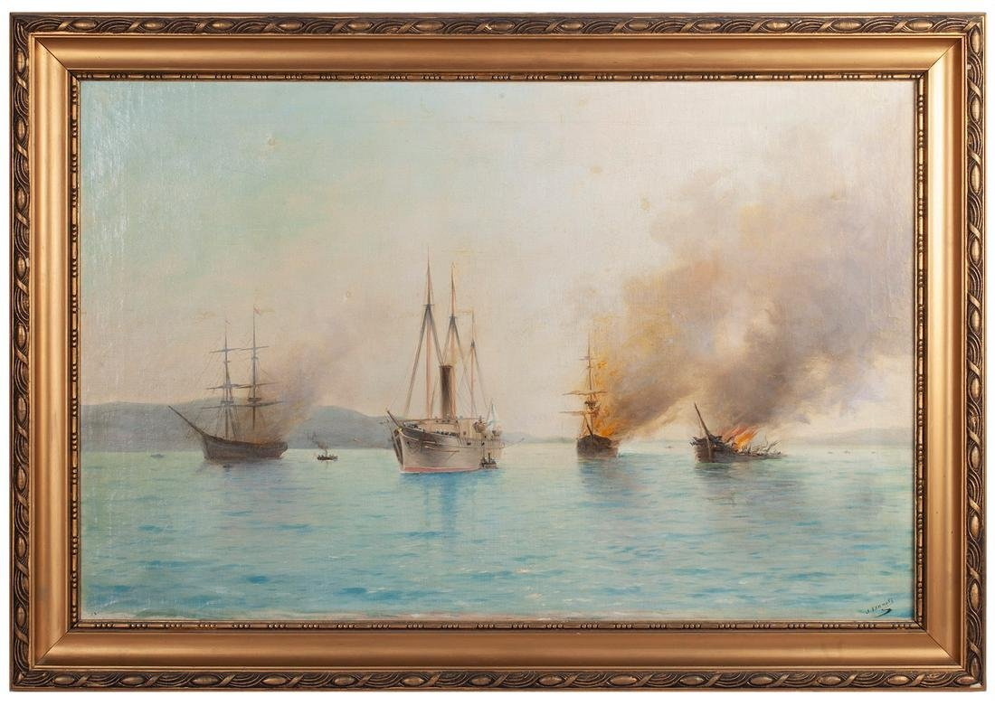 L. Blinov, a copy of the Lev Lagorio painting