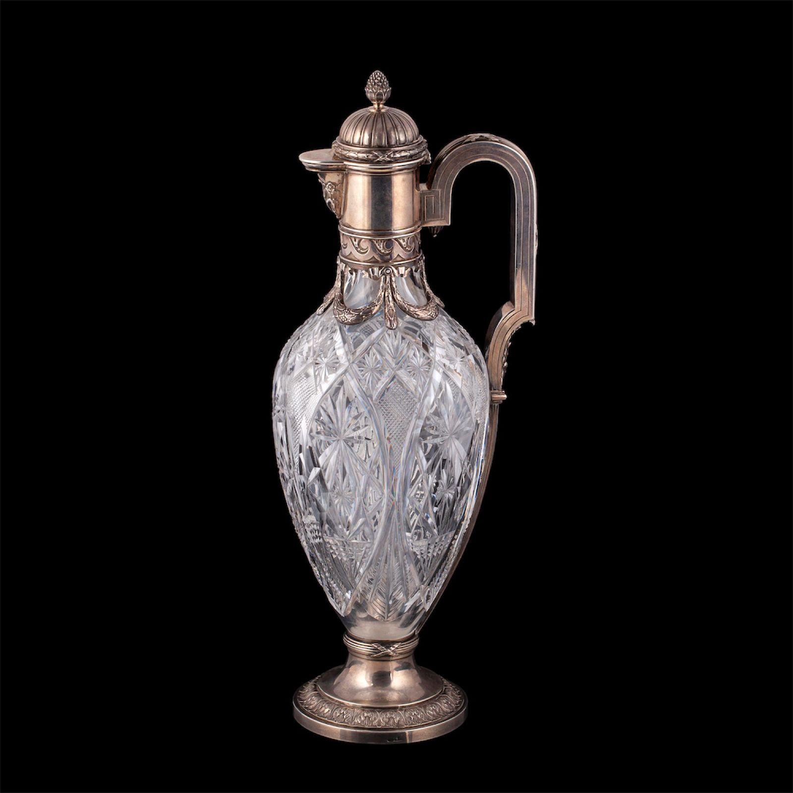 A massive Faberge Neoclassicist decanter