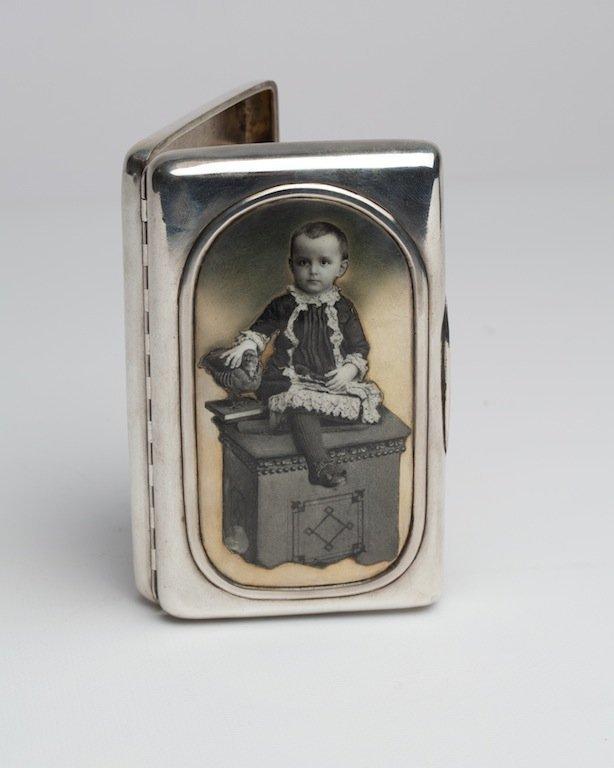 Cigarette case with Grand Duke Mikhail Nikolaevich.