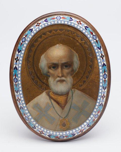 Icon Saint Nikolay Wonderworker. Moscow, 1898-1908.