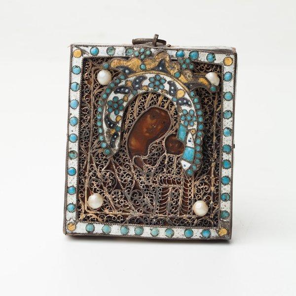 Russian Icon Mother of God of Kazan. Solvychegodsk.