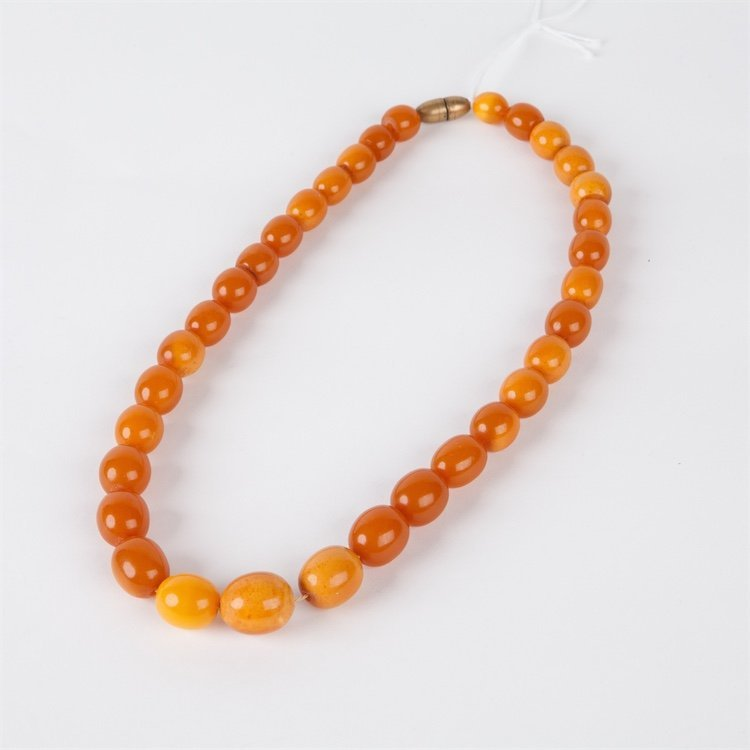 Antique amber necklace.