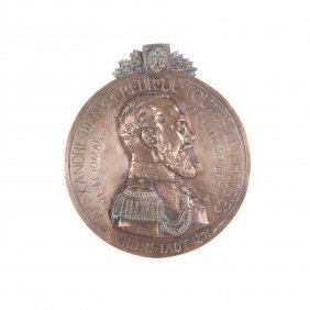 French Plaque With The Emperior Alexander Iii