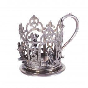 Russian Silver Style Teaglass-holder. Nicols And