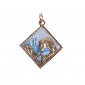 Medallion With Polar Bear. Faberge Workshop.
