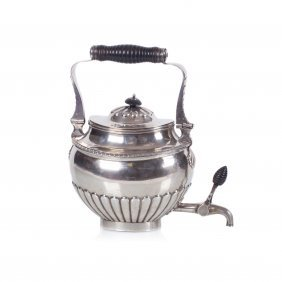 Russian Silver Tea Kettle. Makers Mark Of Gustav