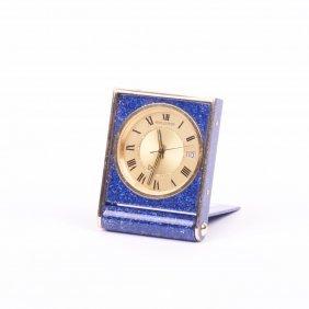 """Desk- Travel Clock """"jaeger Le Coultre""""."""